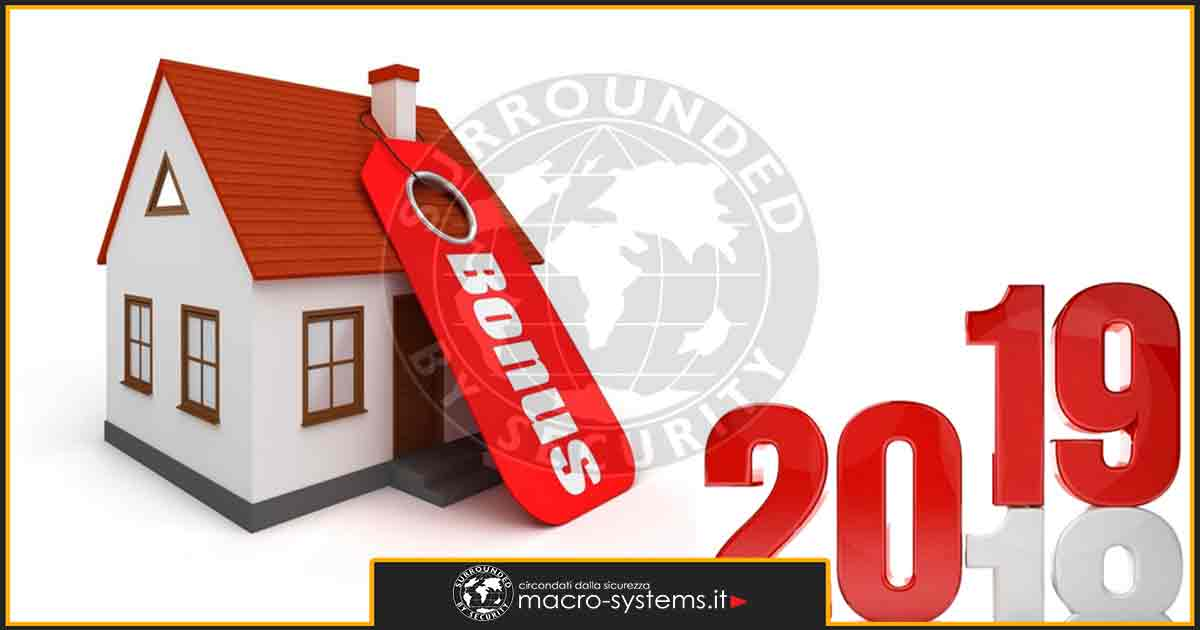 Bonus Sicurezza 2019