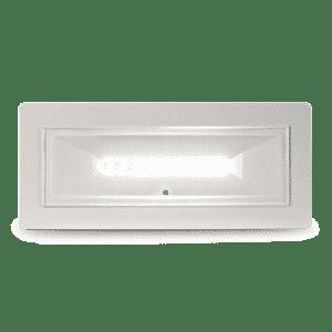Lampada di illuminazione di emergenza a LED dal design compatto e minimale