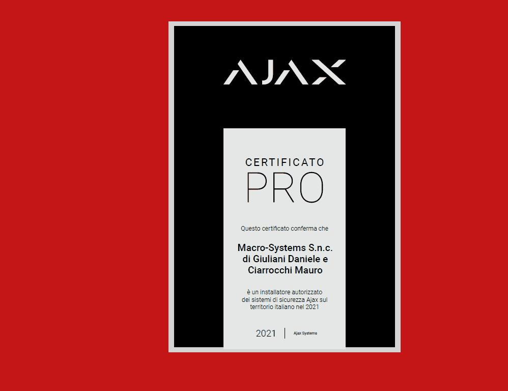 Installatore autorizzato Ajax Security